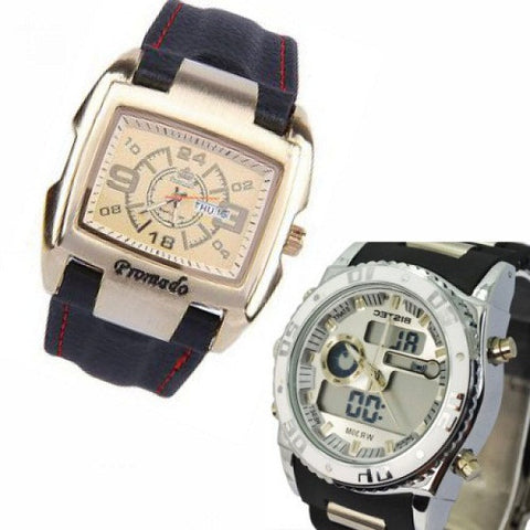 2 in 1 Men's Wrist Watches (Bundle)