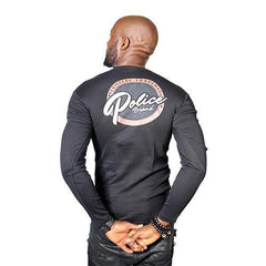 POLICE B.229 BIGSIZE WHITE/BLACK/GREY LARGE LONG SLEEVE T-SHIRT