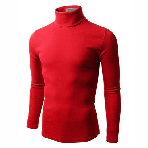 UZEM RED TURTLE NECK BODYSIZE T-SHIRT Size M-Large