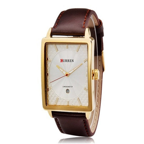 CURREN 8117 Golden Brown Leather Watches