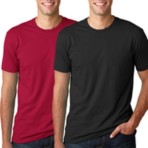 Men's Pack Of 2 BYC Fitted Colored Fashion T Shirt-Red/Black