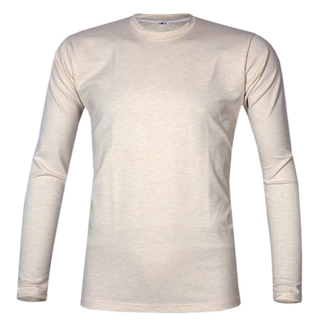 Royal Long sleeve T-shirt Cream color O-Neck