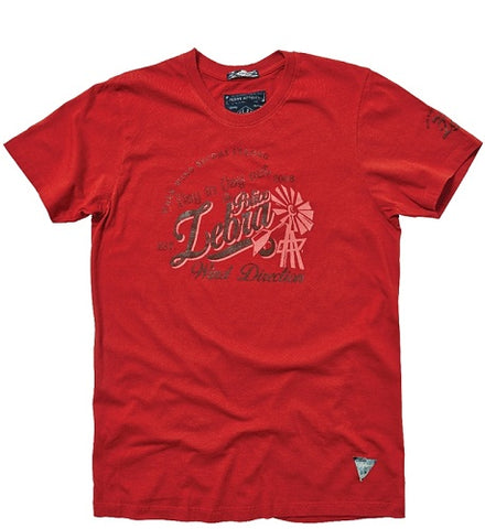 POLICE T.100 ZEBRA RED M/L/XL PRINTED SHORT SLEEVE T-SHIRT