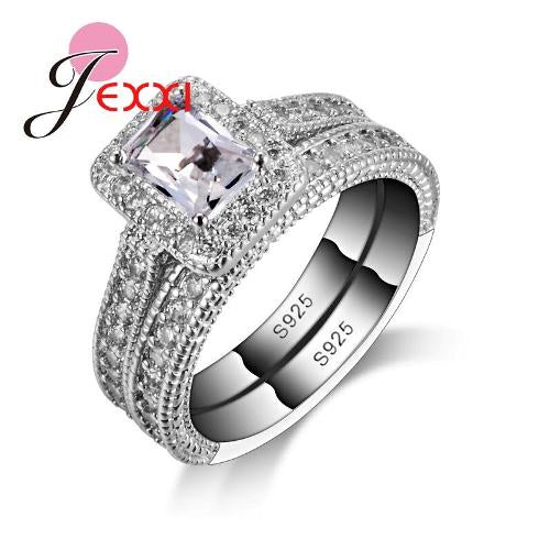 925 STERLING SILVER WEDDING RINGS SETS FOR WOMEN