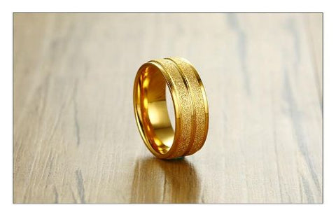 HIGH QUALITY GOLD WEDDING RING-- SIZE -7/8/9/10/11/12