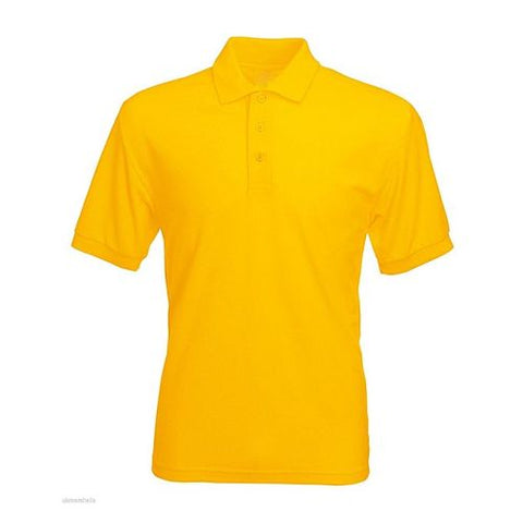 PLAIN YELLOW POLO T-SHIRT S--XL