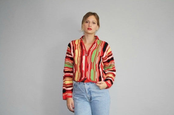 1990s Vintage Authentic Coogi Women's Sweater