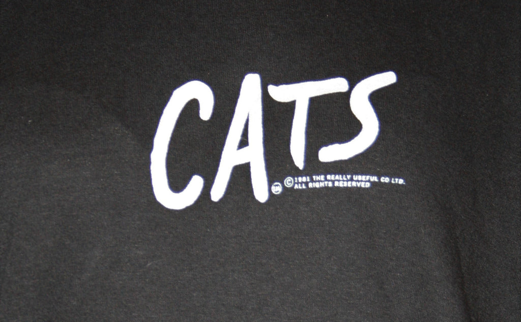 1981 Rare Vintage Cats Andrew Lloyd Webber Musical T Shirt