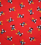 Vintage 90s Mickey Mouse Novelty Print Red Turtle Neck Woman's Top