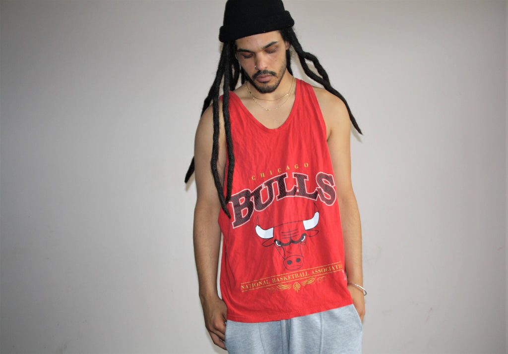 1990s Chicago Bulls NBA Basketball Champion Athletic Tank Top