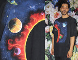 1990s Vintage Solar System Planet Space Graphic T Shirt