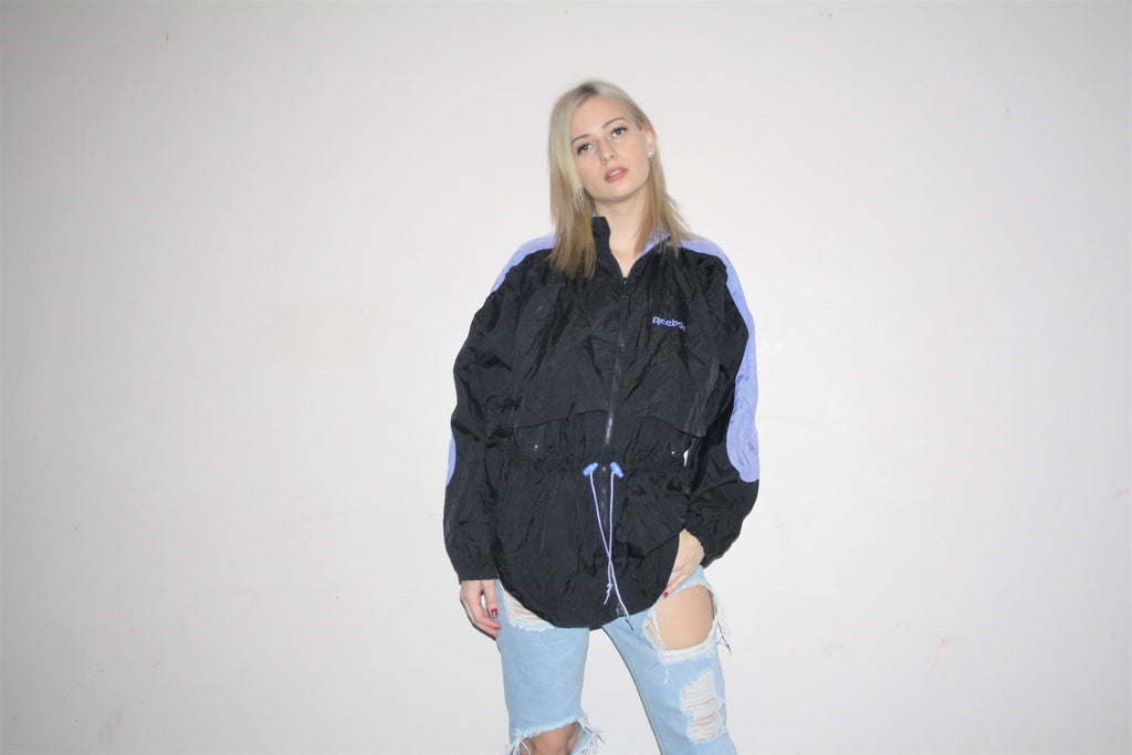 1990s Vintage Reebok Pastel Colorblock Windbreaker Jacket