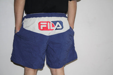 90s VTG Fila Sportswear Swim Trunks Hip Hop Shorts
