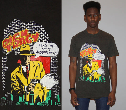 1990s Detective Dick Tracy American Comic Strip T Shirt