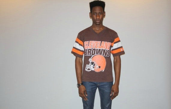 Vintage 1980s Cleveland Browns Football Jersey Shirt