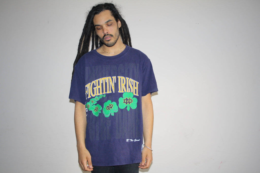 The Fighting Irish Vintage 90s Notre Football T Shirt