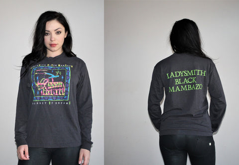 Vintage 90s Ladysmith Black Mambazo South African Band Mean Girls Reference Neon Long Sleeve Shirt
