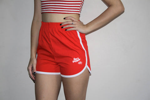 70s Vintage Retro Varsity Dr Pepper Athletic Gym Short Shorts