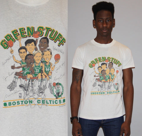 1980s Rare Boston Celtics Signatures NBA Basketball TShirt