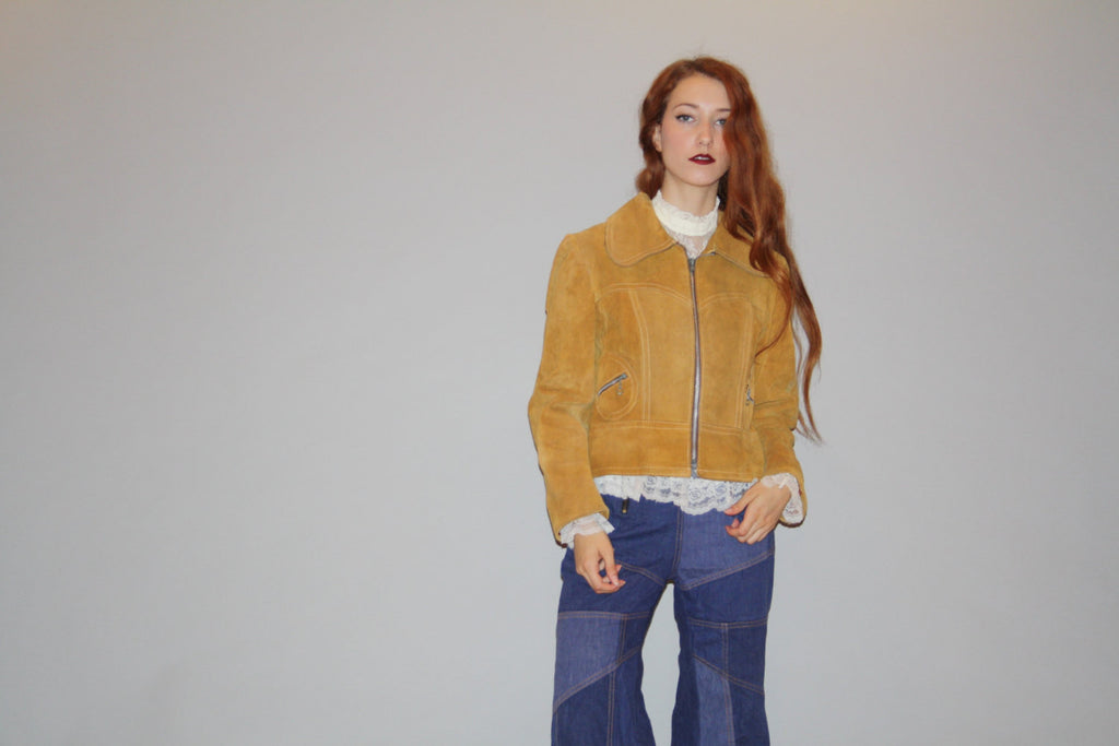 Vintage 1960s Brown Suede Coat