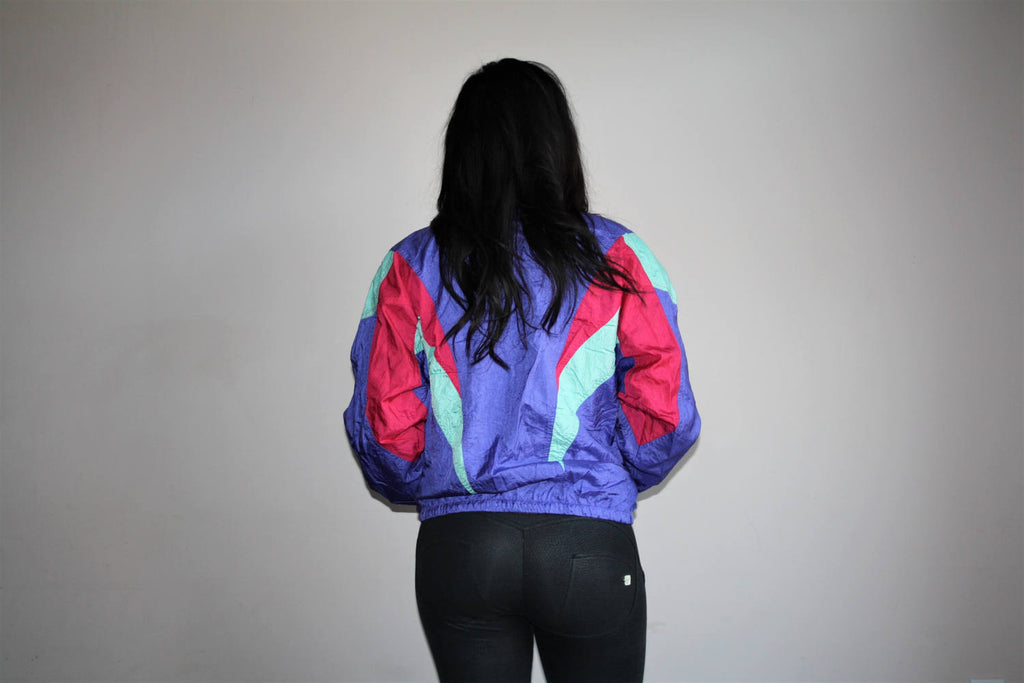 1990s Vintage Adidas Trefoil Colorblock Hip Hop Windbreaker Jacket