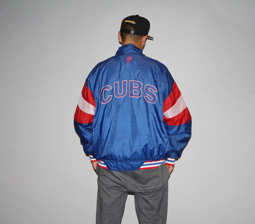 Vintage Chicago Cubs MLB Baseball Hip Hop Rapper Rap Oversized XL Jacket