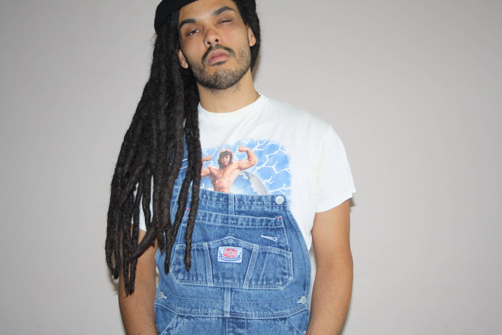 1990s Vintage Blue Jean Hip Hop Rap Denim Overalls