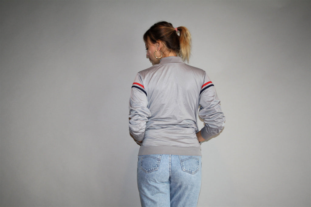 1990s Vintage FILA Warmup Gray Trainer Track Jacket