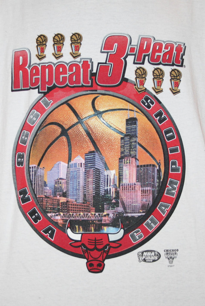 1990s Vintage Chicago Bulls 3-Peat NBA Champions Basketball T Shirt