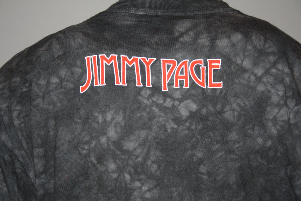 90s Vintage Jimmy Page Led Zeppelin English Rock Band Guitarist Tie Dye T Shirt