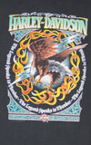 1990s Harley Davidson Legend Lightning Hawk T Shirt
