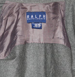 Vintage 1990s Polo by Ralph Lauren Gray Wool Professor Patch Shirt