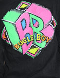 Vintage 90s Black Neon Pink Bugle Boyd Long Sleeve Shirt