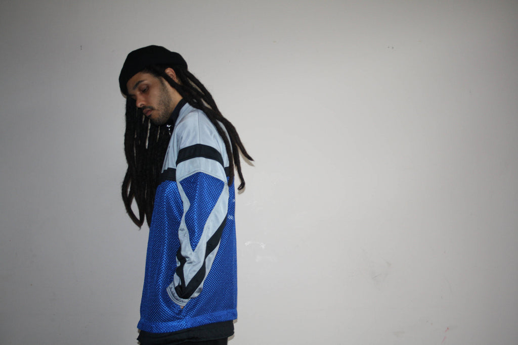1990s Vintage Puma Colorblock Hip Hop Warm Up Sweater Jacket