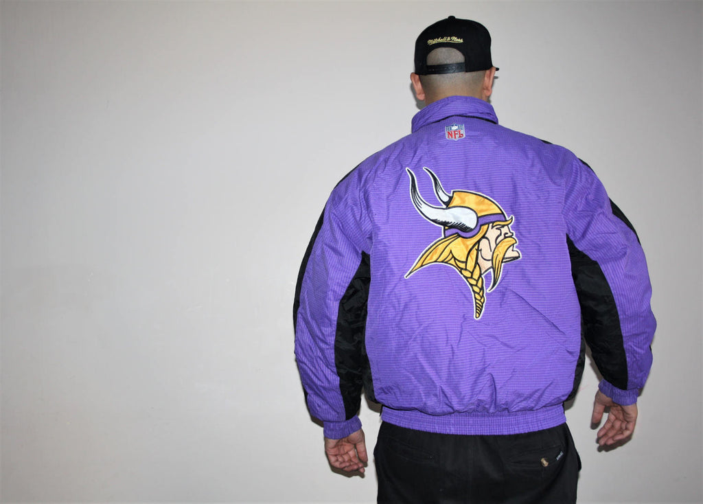 VTG 1990s Vikings NFL Football Proline Logo Athletics Starter Winter Parka Jacket Coat 90s
