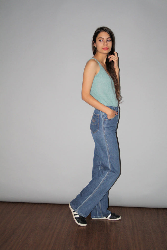 Rare 70s Vintage Levis Orange Tab High Rise Bell Botton Hippie Jeans