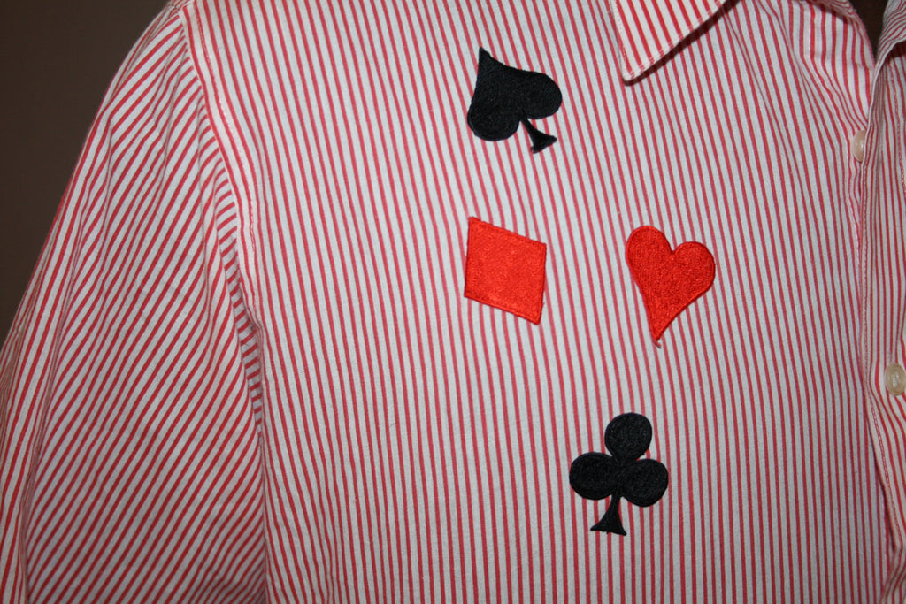 1990s Vintage King of Hearts Poker Dress Shirt