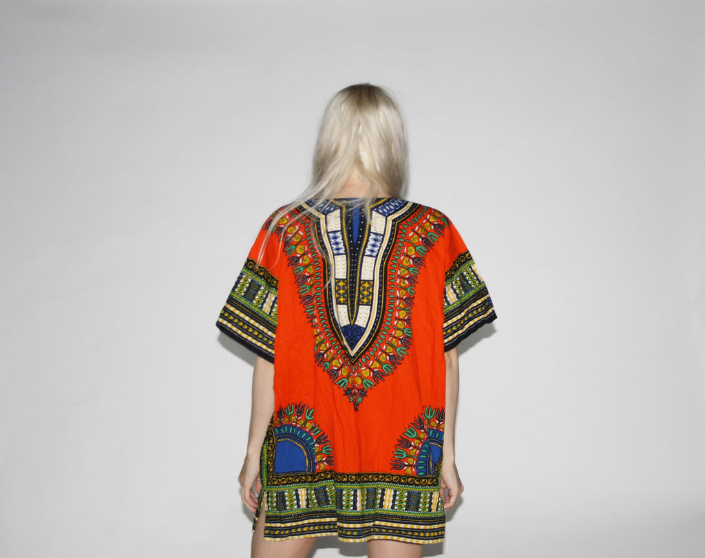 Vintage 60s Dashiki Hippie Ethnic Top