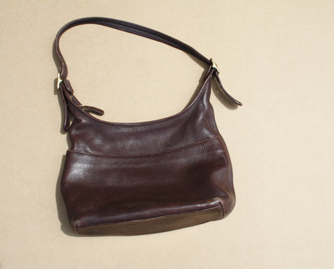 1970s Brown Leather Coach Vintage Designer Bag