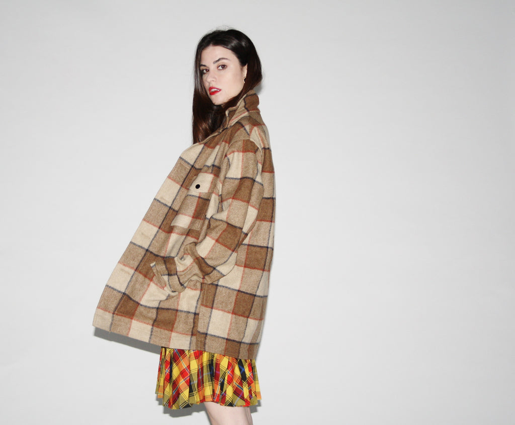 Vintage 1960s Pendleton Plaid Coat