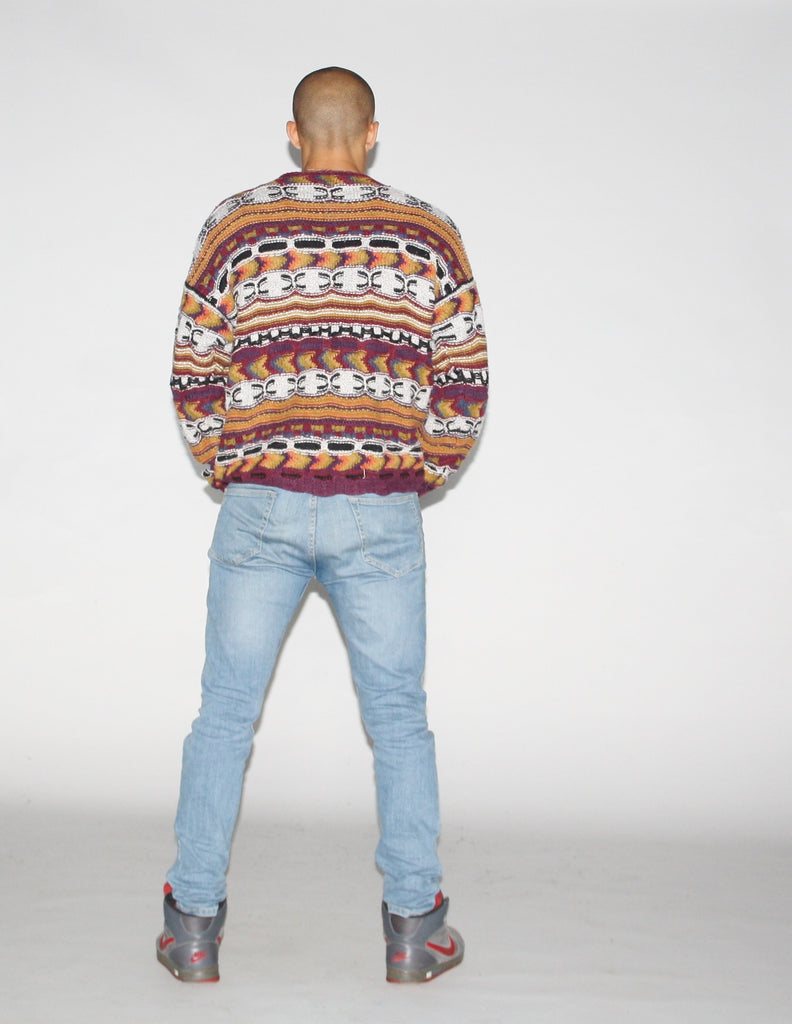 90s Coogi Style Multi Color Tribal Cosby Sweater