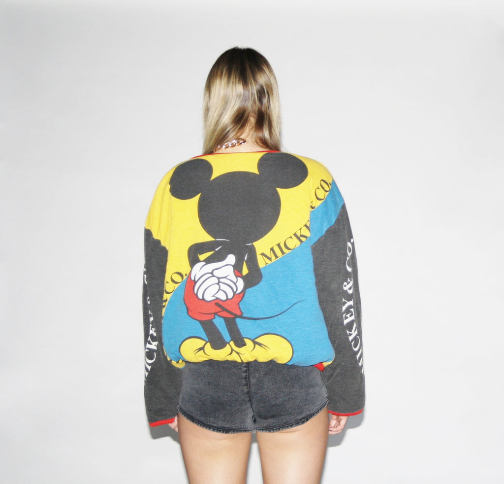 Vintage 90s Disney Mickey Mouse Reversible Sweater