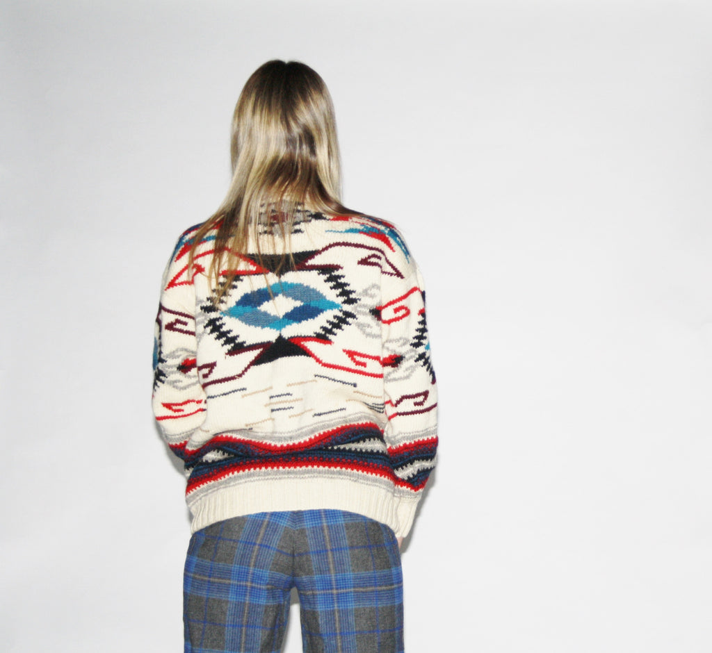 Vintage Ralph Lauren Preppy Knit Pendleton Navajo Turtleneck Sweater
