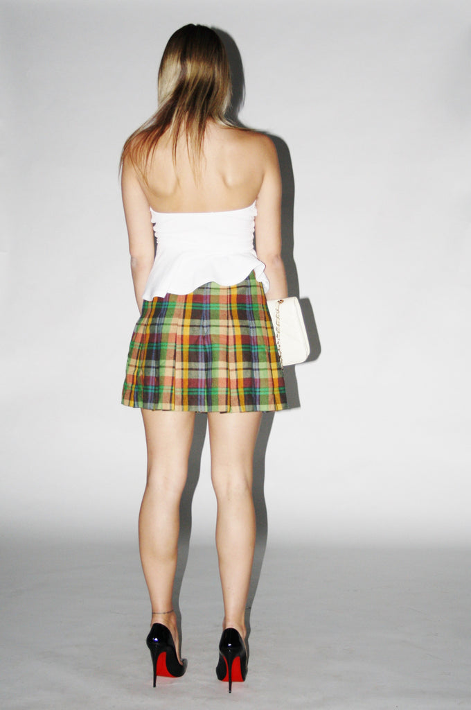 Vintage 1990s Short Plaid Kilt.