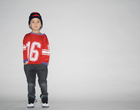 Kid's Vintage 1970s  Red Sports Jersey