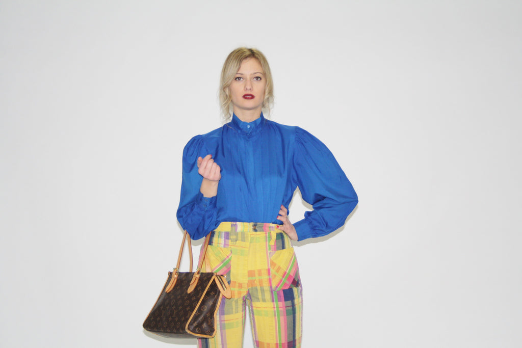 80s Vintage Electric Blue Women