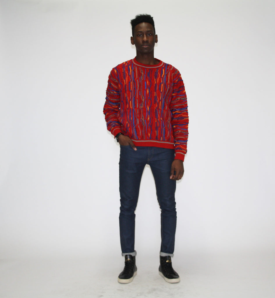 1990s Coogi Style Cosby Hip Hop Sweater