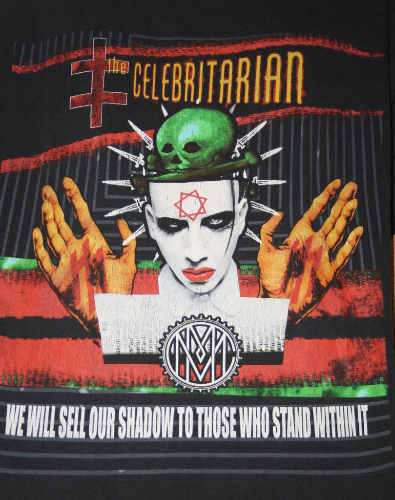 1990s Rare Vintage Marilyn Manson Goth Rock Rocker Tour T Shirt