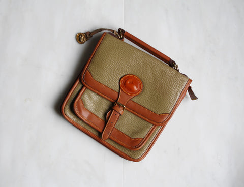 Vintage Dooney and Bourke Moss Green Leather Bag