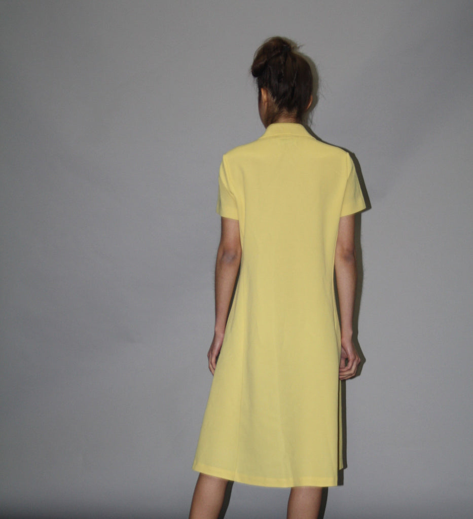 1960s Vintage Lacoste Izod Yellow Tennis Shirt Dress - Vintage Lacoste Dress